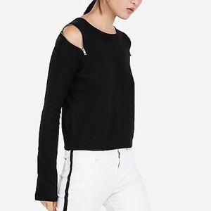 Express Zip Shoulder Sweater